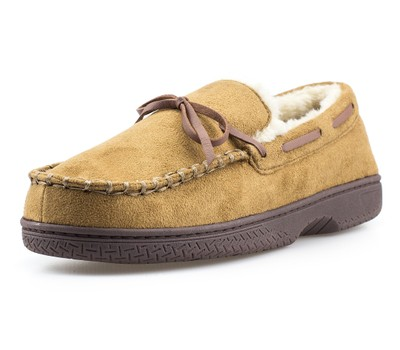 Mens Memory Foam Durable Comfortable Slip On Moccasin Slippers Was: $49.99 Now: $17.99.