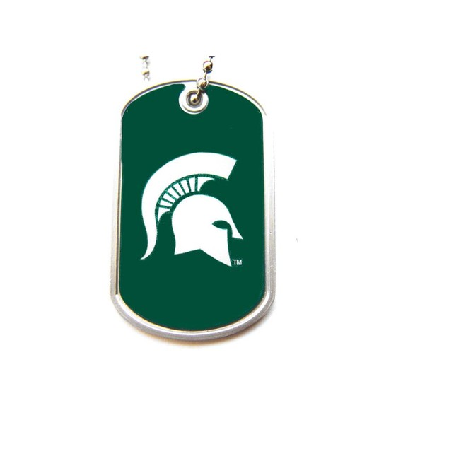 NCAA Sports Team Logo Dog Tag Domed Necklace Charm Chain