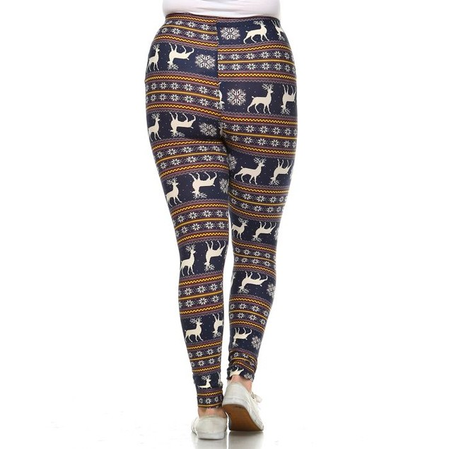 Plus Size Printed Winter Leggings