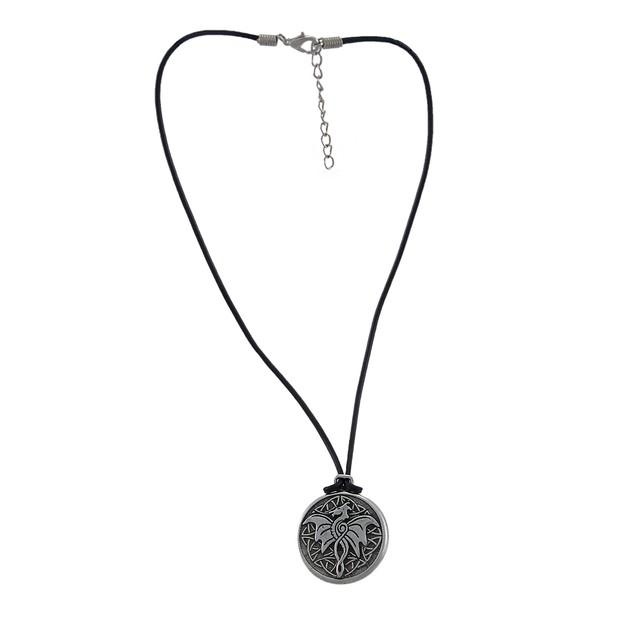 Celtic Wisdom Dragon Pewter Pendant 16 In. Cord Womens Pendant Necklaces