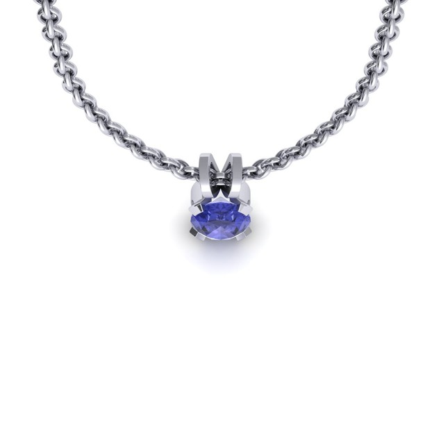 1.65cttw Oval-Cut Tanzanite Necklace & Earring Set In Sterling Silver