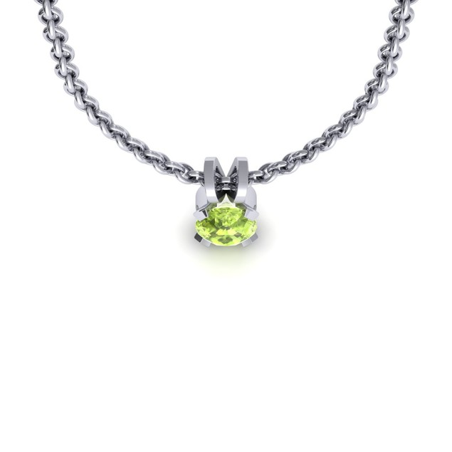 1.50cttw Oval-Cut Peridot Necklace & Earring Set In Sterling Silver