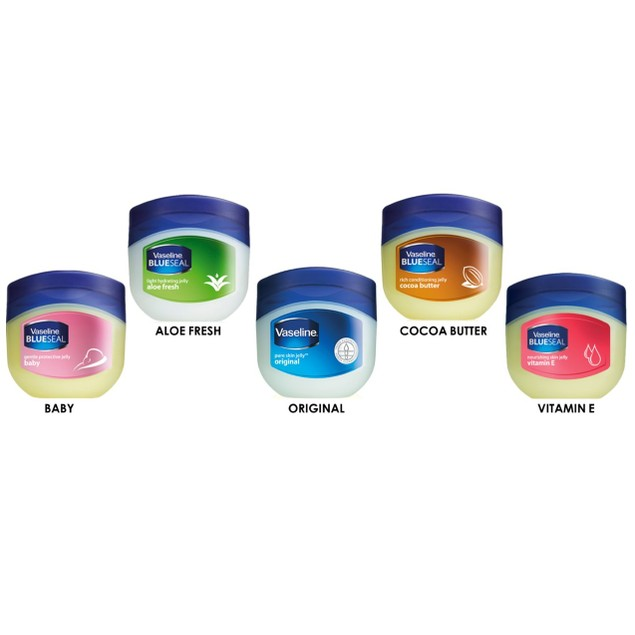 5-Pack Vaseline Pure Petroleum Jelly Variety Bundle
