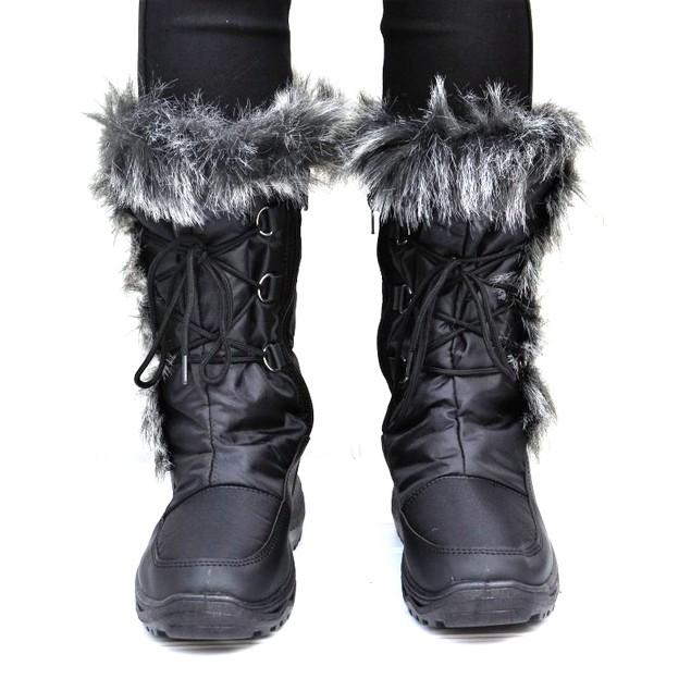 Mata Women's Waterproof Fur Lined Snow Boots - BelleChic