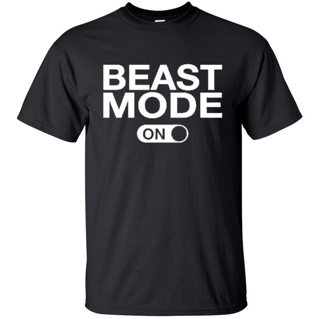 Beast Mode Short Sleeve Crew Neck Graphic Tshirt