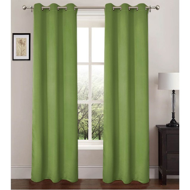 "2-Pack Energy-Saving 37"" x 84"" Curtains with Metal Grommets"