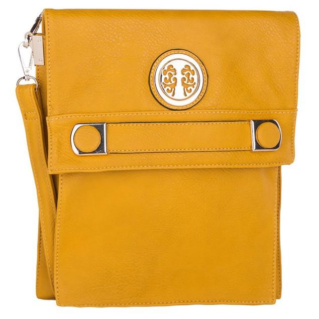 MKF Collection Elegant Flip-Top Crossbody Bag by Mia K