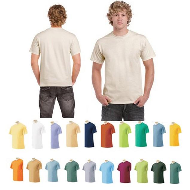 12pk Men's Short-Sleeve 100% Cotton Crew-Neck Tees