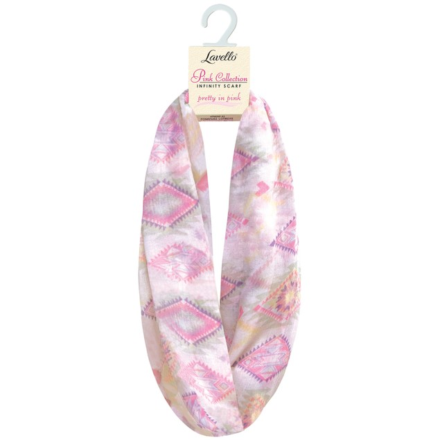 Lavello Pink Collection Infinity Scarves Pretty in Pink