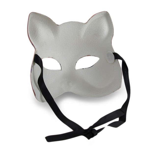 Colorful Cat Half-Face Mardi Gras Style Masquerade Womens Costume Masks
