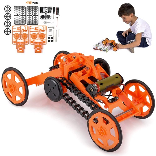 Engineering Stem DIY Car Assembly Gift Toy for Boys Kids & Adults