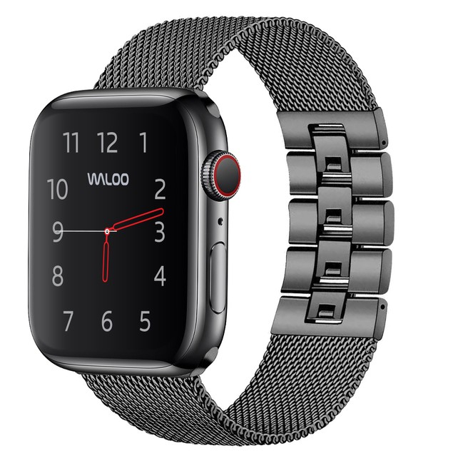 Waloo Linked Mesh Band for Apple Watch Series 1, 2, 3, 4, and 5