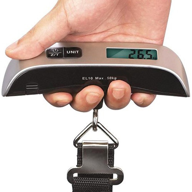 110 lb Capacity Portable Digital Luggage Scale - Watch the Video