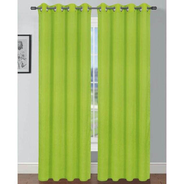 """Solid Design Tafta Crush 104""""x84"""" Grommet Window Panel Pair"""