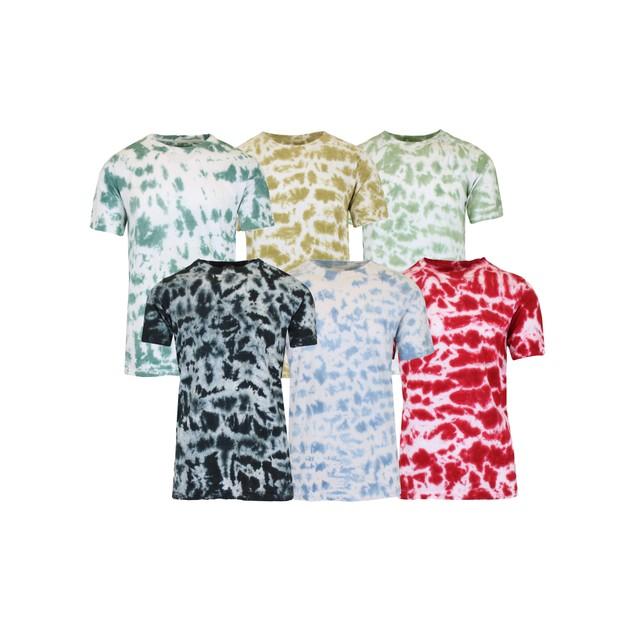 Men's Short Sleeve Tie-Dye Cotton Tee (Sizes, S to 2XL)