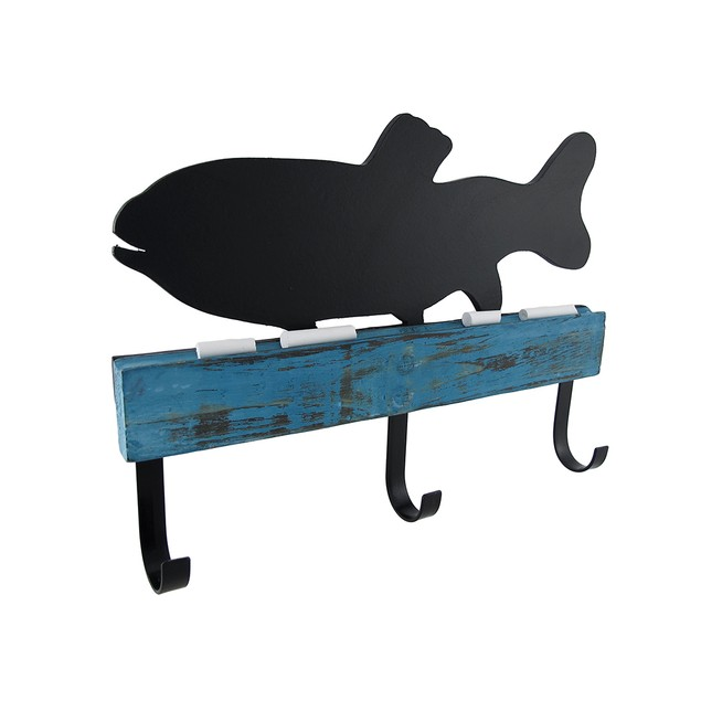 Chalk It To Me Fish Shaped Chalkboard With Wall Coat Hooks