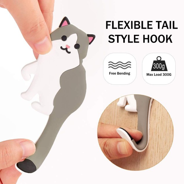 Set of 3 - Animal Washable Adhesive Hook for Home/Kitchen/Bathroom