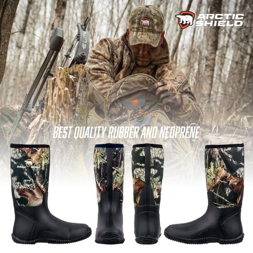 Arctic Shield Men's Waterproof Rubber Neoprene Boots- 2 Colors