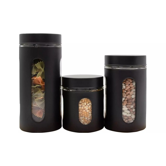 3-Piece Air Tight Window Cylinder Canister Set