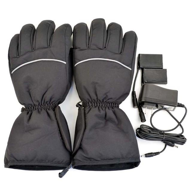 iPM Black Warm Unisex Electric Heated Gloves