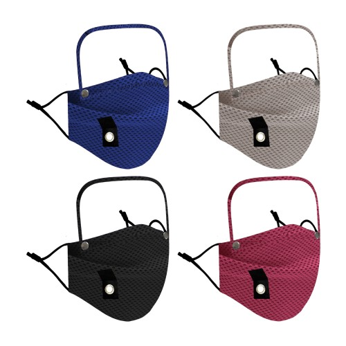 3-Pack Eye Shield and Straw Hole Cooling Face Masks for Adults and Kids