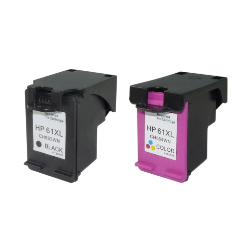 HP 61 Compatible Ink 2-Pack (High Yield Black & Tri-Color)