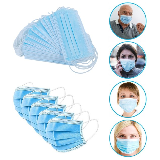 Bulk Wholesale 3-Ply Disposable FDA/CE Approved Face Mask From $0.50