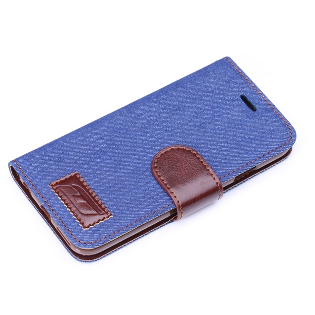 iPM Denim/Leather Stylish iPhone 6 Wallet Case