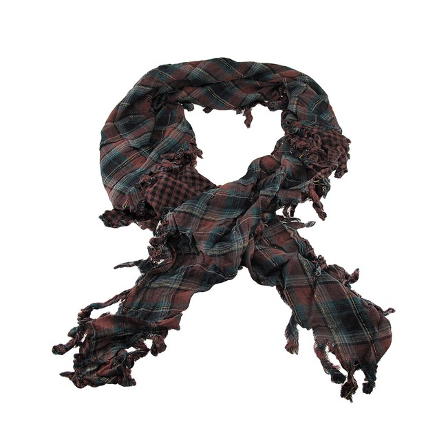 Brown Plaid Triangular Reversible Neck Scarf Womens Fashion Scarves
