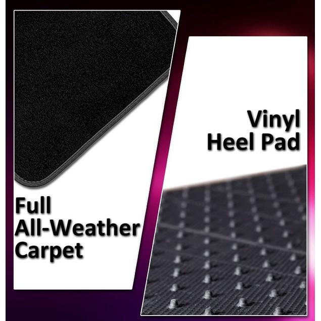 4-Piece Zone Tech All Weather Heavy Duty Vehicle Floor Mats