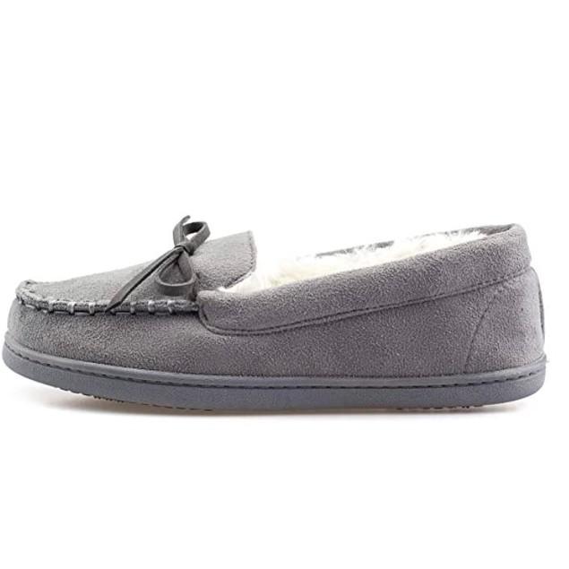 ArcticShield Women's Memory Foam Plush Fur Moccasin Slippers