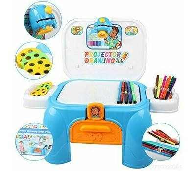 Projector Drawing Desk Play set Boys Girls Creative Kit stool carrying case Was: $59.99 Now: $23.99.