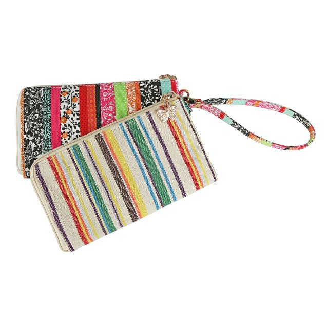 Tropical Breeze Double Wallet Wristlet