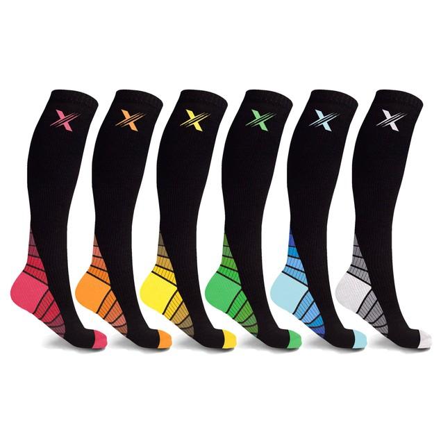 6-Pairs: Unisex Premium Gold Compression Socks