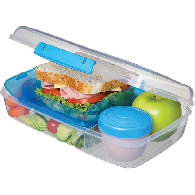 3 Pack of Bento Lunch Box Food Storage Container Set - 5 Compartment