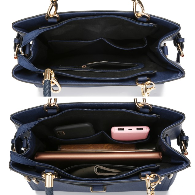 MKF Collection by Mia K. Tenna Satchel Bag with Wallet