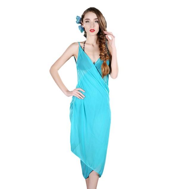 Elegant Sheer Wrap Dress