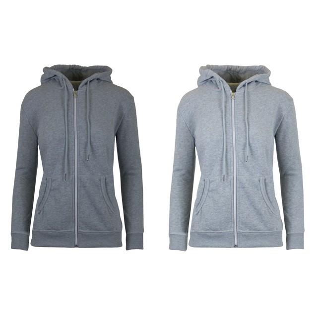 2-Pack Women's Fleece-Lined Zip Hoodie