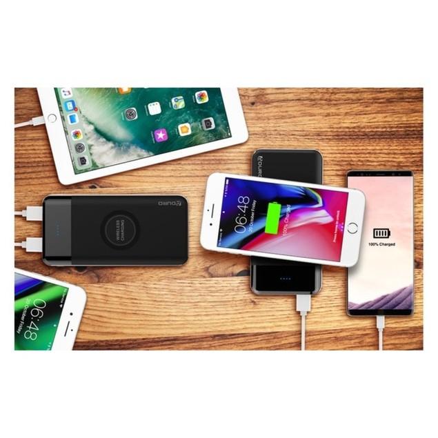 Aduro Wireless Qi 10,000 mAh Power Bank with Dual-USB Ports