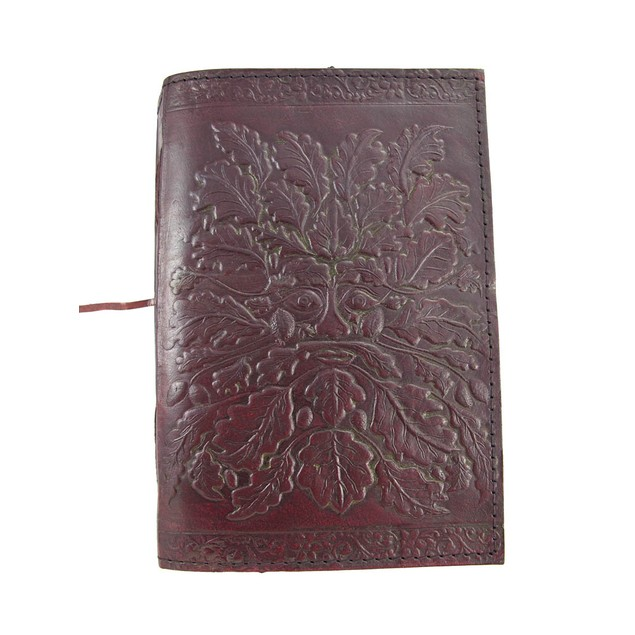 Embossed Leather Greenman 120 Page Unlined Dream Art Sketchbooks And