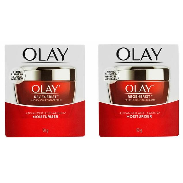 2-Pack Olay Regenerist Micro-Sculpting Cream 50g (1.7 Oz)