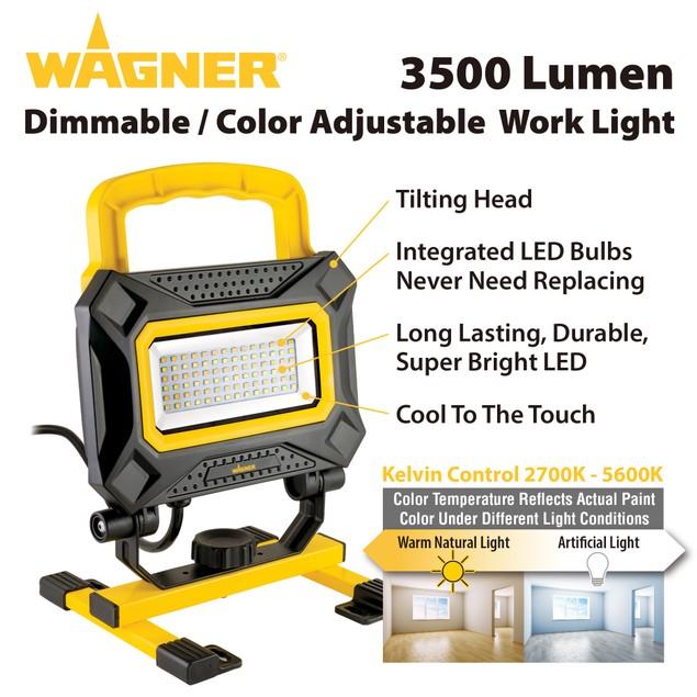 Wagner 3500 Lumen LED Portable Work Light 5600 Kelvin 40 Watts - 240028