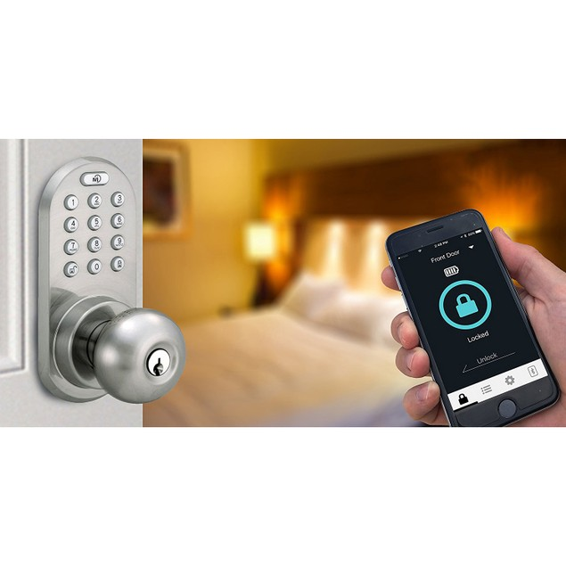MiLocks Keyless Entry Door Knob with Bluetooth and Digital Keypad