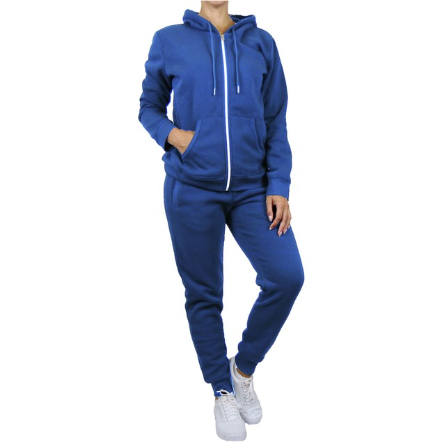 Women's Fleece Drawstring Hoodie & Jogger Set