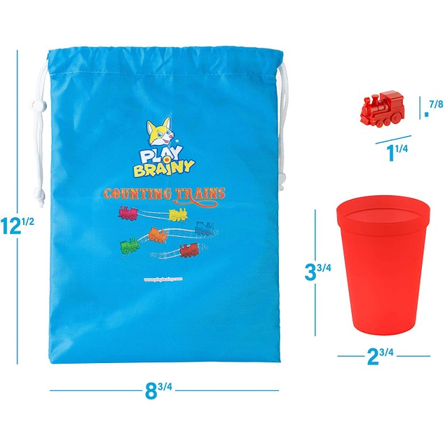 Play Brainy Colorful Counting Trains and Cups
