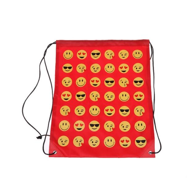 2-Pack Emoji Drawstring Backpack