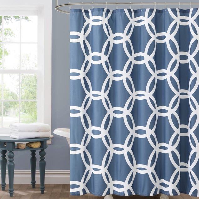 """Ruthy's Textile Circle Pattern Shower Curtain 72"""" X 72"""""""
