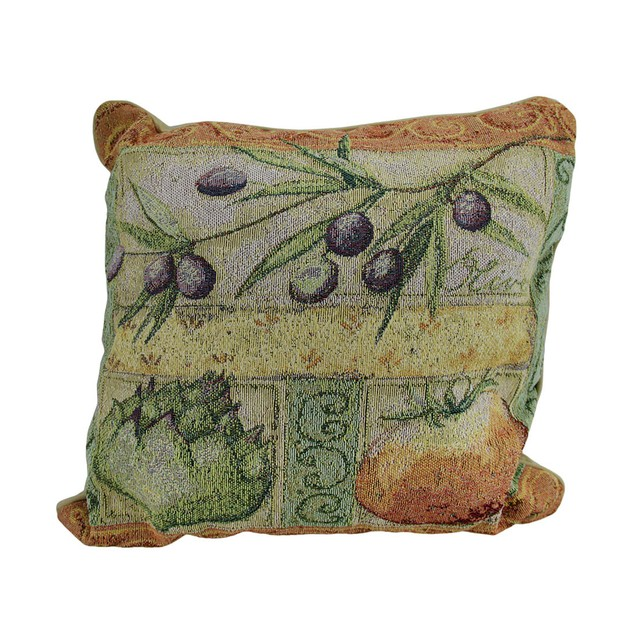 Tuscan Veggies Tapestry Throw Pillow 17 X 17 Inch Throw Pillows