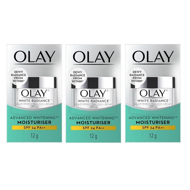 3-Pack Olay White Radiance Light Perfecting Day Cream, Advanced Whitening