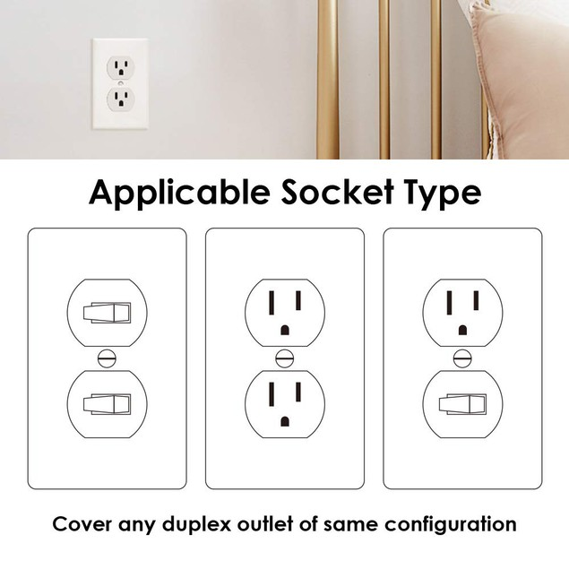 5-Pack Outlet Cover with Built-In LED Night Light